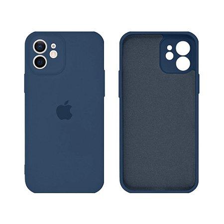 Capa C/ Proteção de Câmera iPhone 12/12Pro - Azul Marinho