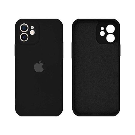 Capa C/ Proteção de Câmera iPhone 12/12Pro - Preto