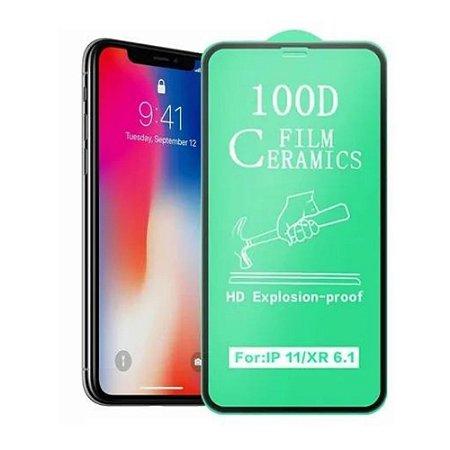 Película de Cerâmica 100D iPhone XR e 11