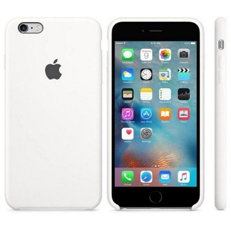 Capa Case Apple Silicone para iPhone 6G 6S - Branca