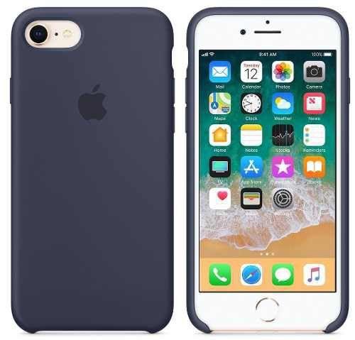 Capa Case Apple Silicone para iPhone 7 8 - Azul Marinho