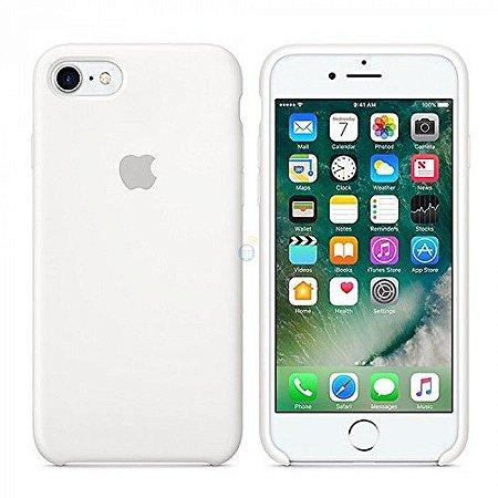 Capa Case Apple Silicone para iPhone 7 8 - Branca