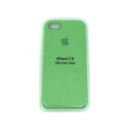 Capa Case Apple Silicone para iPhone 7 8 - Verde