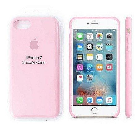 Capa Case Apple Silicone para iPhone 7 8 - Rosa