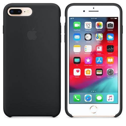 Capa Case Apple Silicone para iPhone 7 8 Plus - Preta