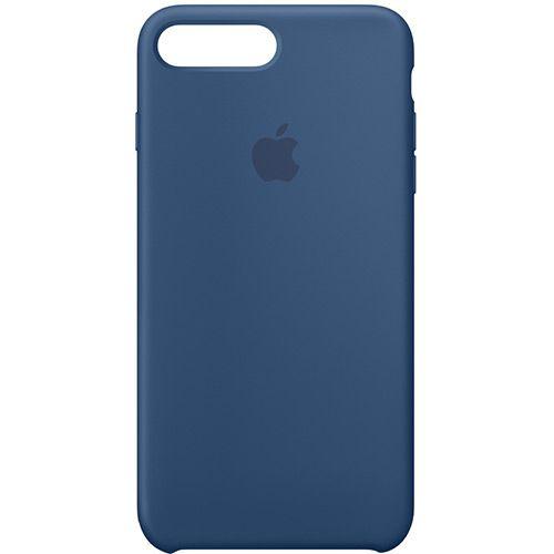 Capa Case Apple Silicone para iPhone 7 8 Plus - Azul Marinho
