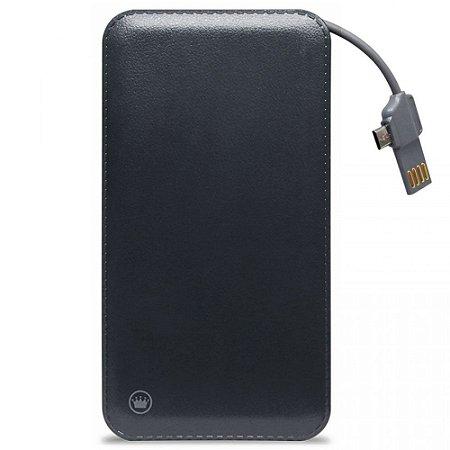Carregador Portátil Power Bank Ultrafino Micro USB e Lightning 10000mah Kimaster