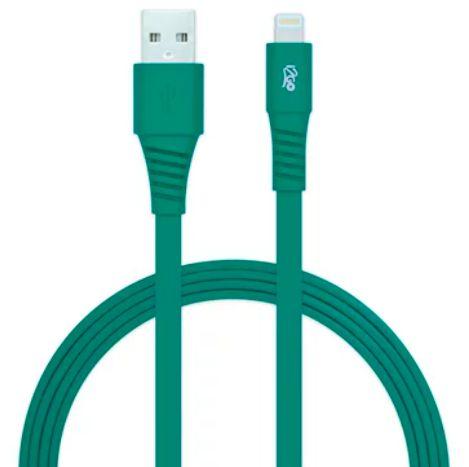 Cabo Lightning iPhone I2GO 1,2m 2,4A Flexível Verde - I2GO