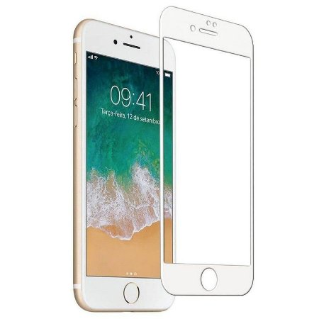 Película De Vidro 3D 5D Apple Iphone 7 8 Plus 5'5 - Branca