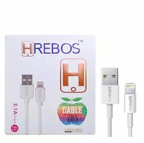 Cabo USB para Lightning 2.1A 1,2m Hrebos