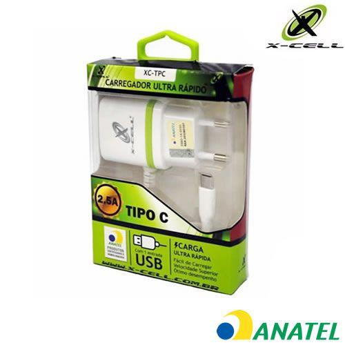 Carregador USB Type C 2.8A Xcell XC-TPC - Branco