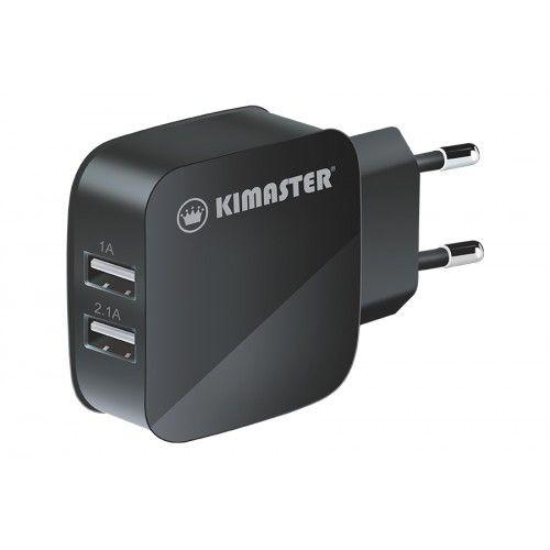 Carregador Universal 2USB 1A/2A Kimaster - TO350 Preto