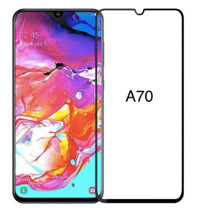 Película De Vidro 3D 5D Samsung A70 2019 Tela Toda - Preta