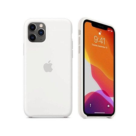 Capa Case Apple Silicone para iPhone 11 Pro Max - Branca