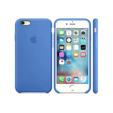 Capa Case Apple Silicone para iPhone 6G 6S - Azul