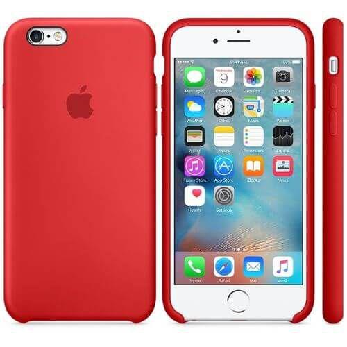 Capa Case Apple Silicone para iPhone 6G 6S - Vermelha