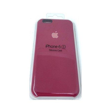 Capa Case Apple Silicone para iPhone 6G 6S - Vermelha Cereja