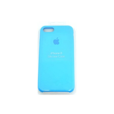 Capa Case Apple Silicone para iPhone 7 8 - Azul
