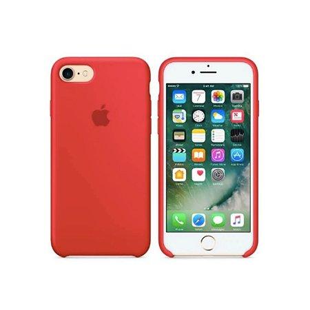 Capa Case Apple Silicone para iPhone 7 8 - Vermelha