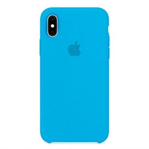 Capa Case Apple Silicone para iPhone X Xs - Azul