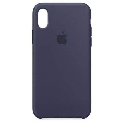 Capa Case Apple Silicone para iPhone X Xs - Azul Marinho