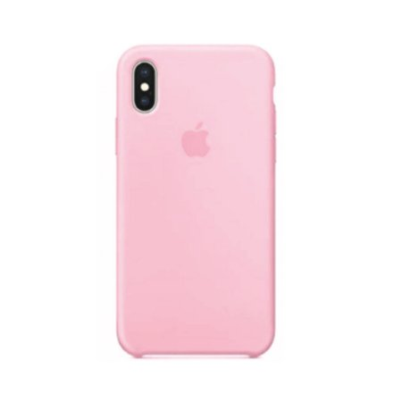 Capa Case Apple Silicone para iPhone X Xs - Rosa