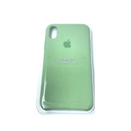 Capa Case Apple Silicone para iPhone X Xs - Verde