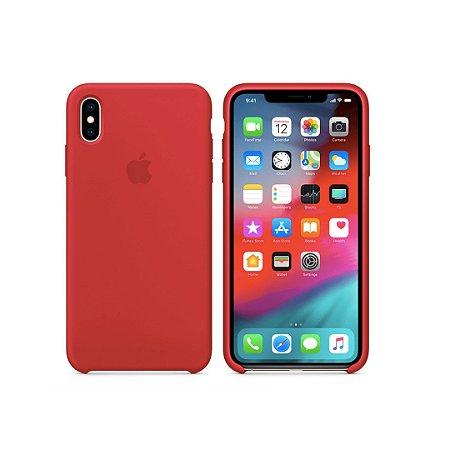 Capa Case Apple Silicone para iPhone X XS - Vermelha