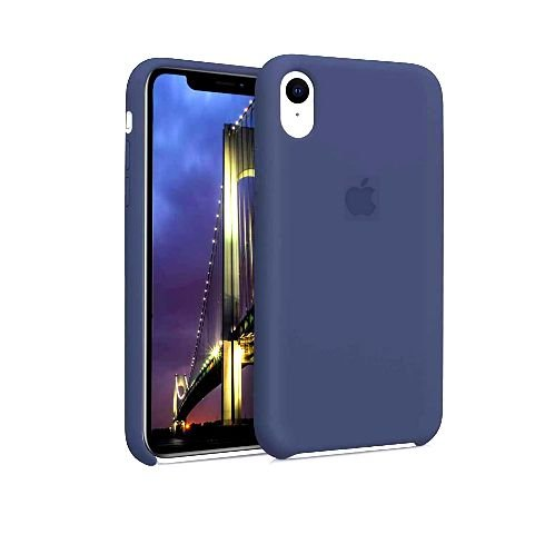 Capa Case Apple Silicone para iPhone XR 6.1 - Azul Marinho