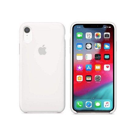 Capa Case Apple Silicone para iPhone XR 6.1 - Branca
