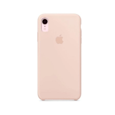 Capa Case Apple Silicone para iPhone XR 6.1 - Rosa Areia