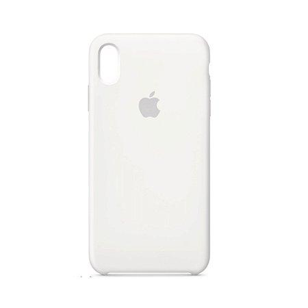 Capa Case Apple Silicone para iPhone Xs Max - Branca