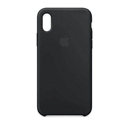 Capa Case Apple Silicone para iPhone Xs Max - Preta