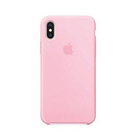 Capa Case Apple Silicone para iPhone Xs Max - Rosa