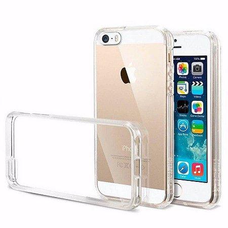 Capa Incolor Tpu Para Iphone 5 5S Silicone Maleavel