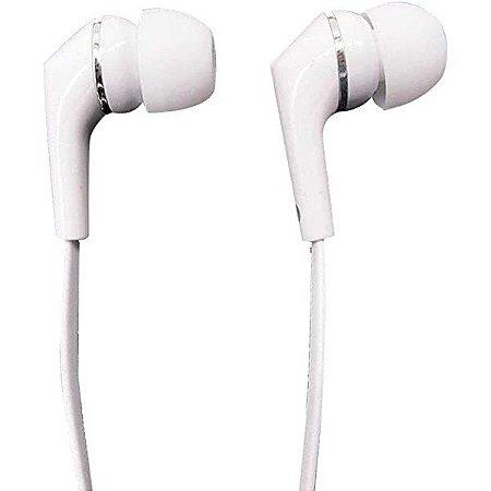 Fone Ouvido Headset J5 Silicone - Branco