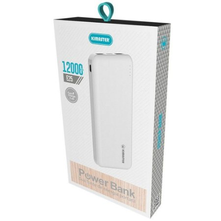 Carregador Portátil Power Bank E25 Kimaster 12000mAh