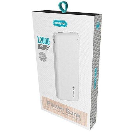 Carregador Portátil Power Bank E25 Kimaster 12000mAh