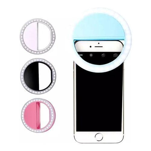 Luz Ring Selfie para Celular Universal Com Regulagem