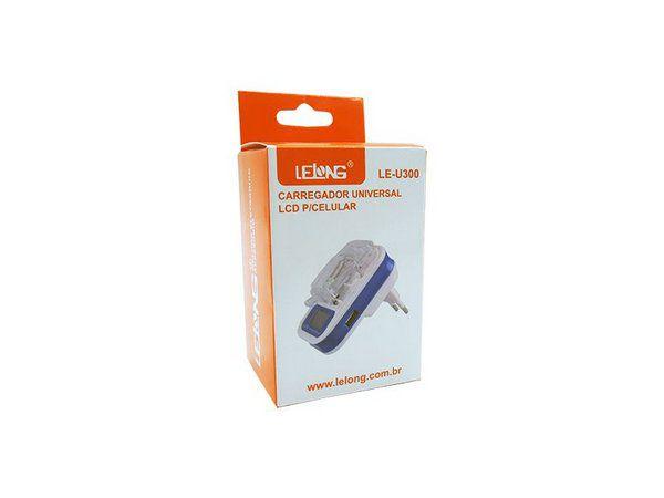 Carregador de Bateria Universal com Display LeLong LEU300