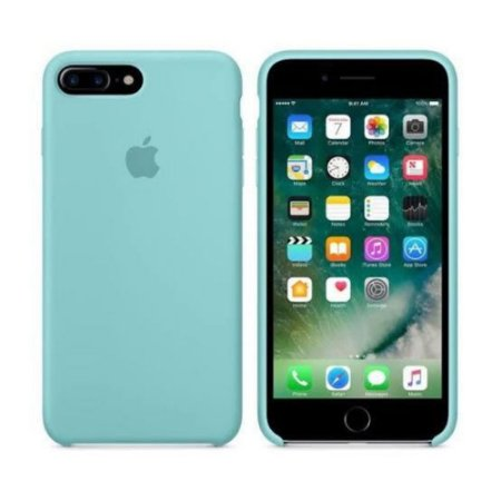 Capa Case Apple Silicone para iPhone 7 8 Plus - Azul Turquesa