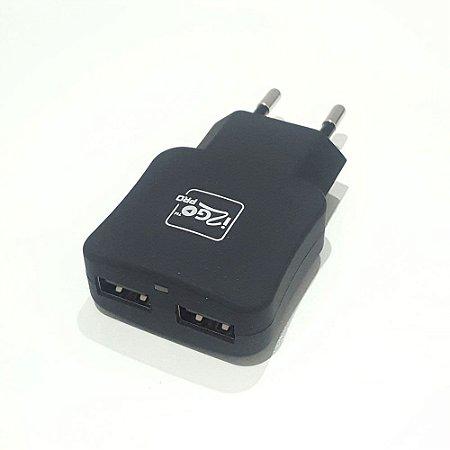 Carregador de Parede 2 Saidas Turbo USB i2go - Preto