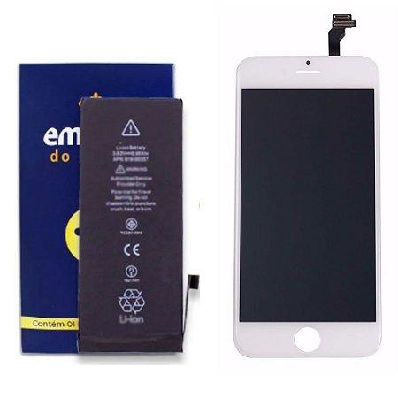 Kit Tela Display Touch Branco e Bateria para iPhone 6G