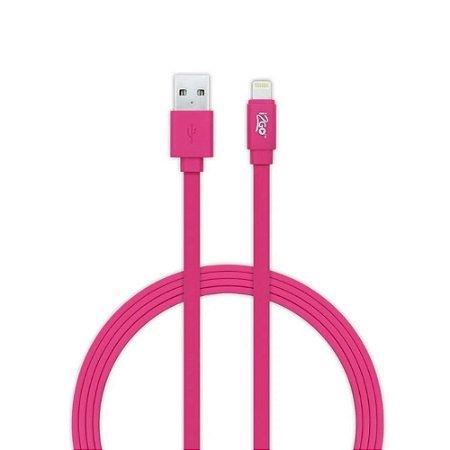 Cabo USB Lightning para iPhone 1,2m 2,4A i2GO - Rosa