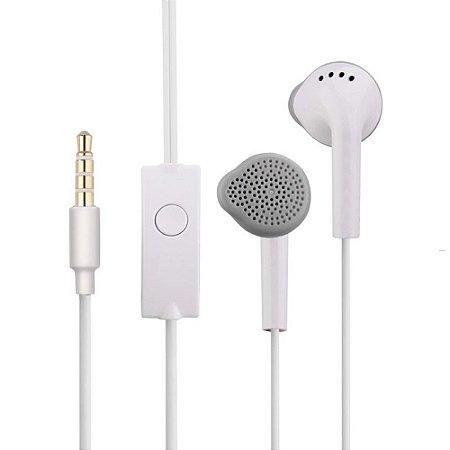 Fone de Ouvido Extra Bass com Microfone PMCELL FO-14 Branco