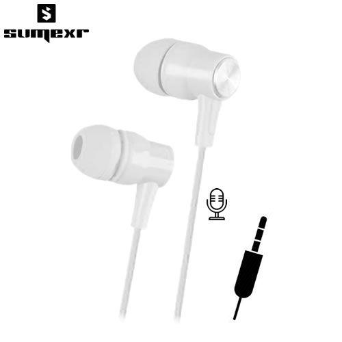 Fone de Ouvido P2 Estéreo com Microfone Sumexr SEJ-B22 - Branco