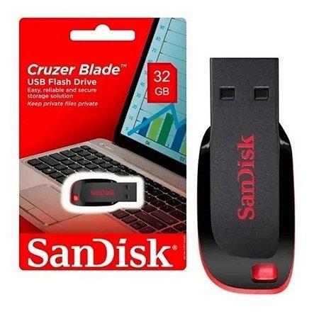Pen Drive SanDisk USB 2.0 Cruzer Blade SDCZ50 32GB