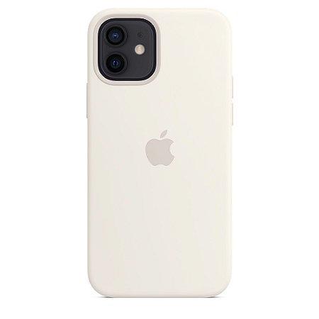 Capa Case Apple Silicone para iPhone 12 e 12 PRO - Branca