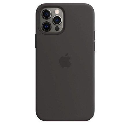 Capa Case Apple Silicone para iPhone 12 e 12 PRO - Preta