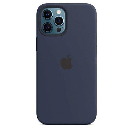 Capa Case Apple Silicone para iPhone 12 Pro Max - Azul Marinho